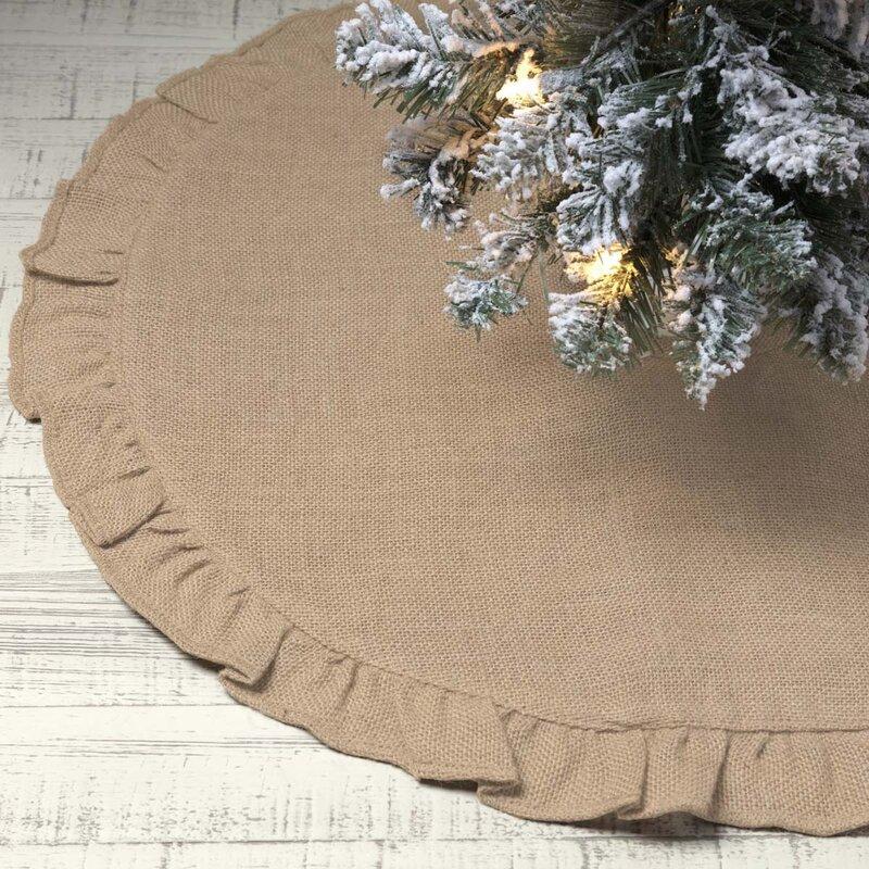 jute burlap tree skirt - Burlap Christmas Tree Skirt