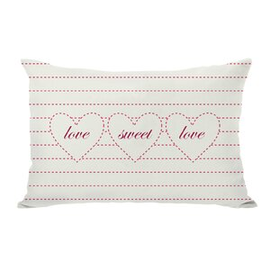 Love Sweet Love Lumbar Pillow