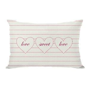 Love Sweet Love Lumbar Pillow