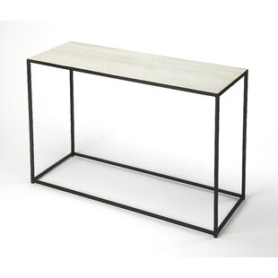 Gettys Marble Metal Console Table