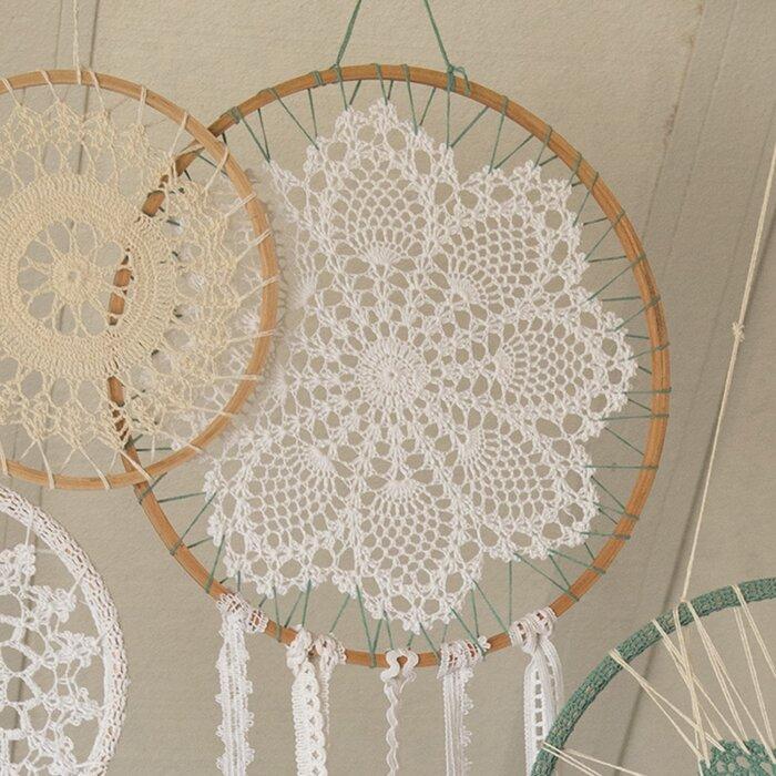 Bungalow Rose Crochet Dream Catcher Bohemian Wall Décor Reviews