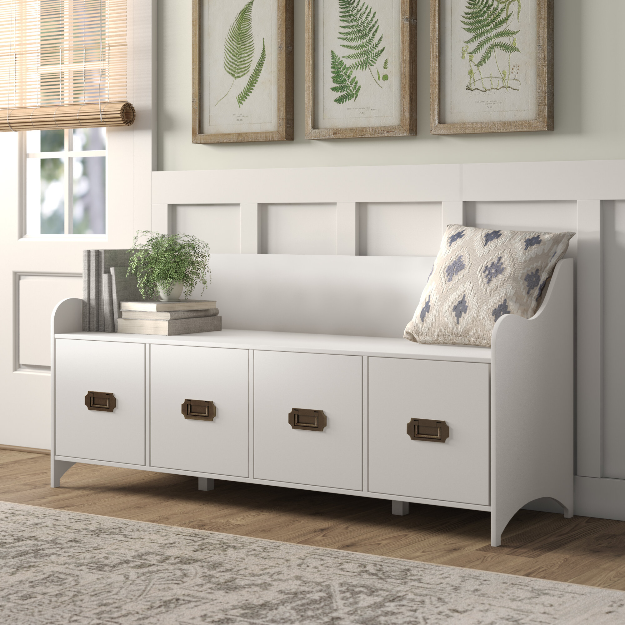 Astonishing Birch Lane Heritage Edwards 4 Drawer Storage Bench Caraccident5 Cool Chair Designs And Ideas Caraccident5Info