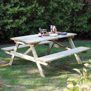 Wooden Garden Tables Youll Love Wayfaircouk