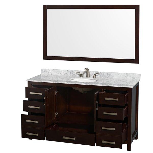 Wyndham Collection Sheffield 60 Single Espresso Bathroom Vanity Set With Mirror Reviews