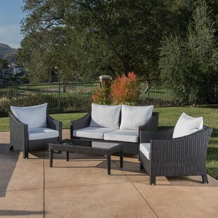 Hoopes 4 Piece Conversation Set With Cushions