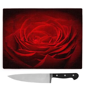 Flower Red Rose Large Chopping Board