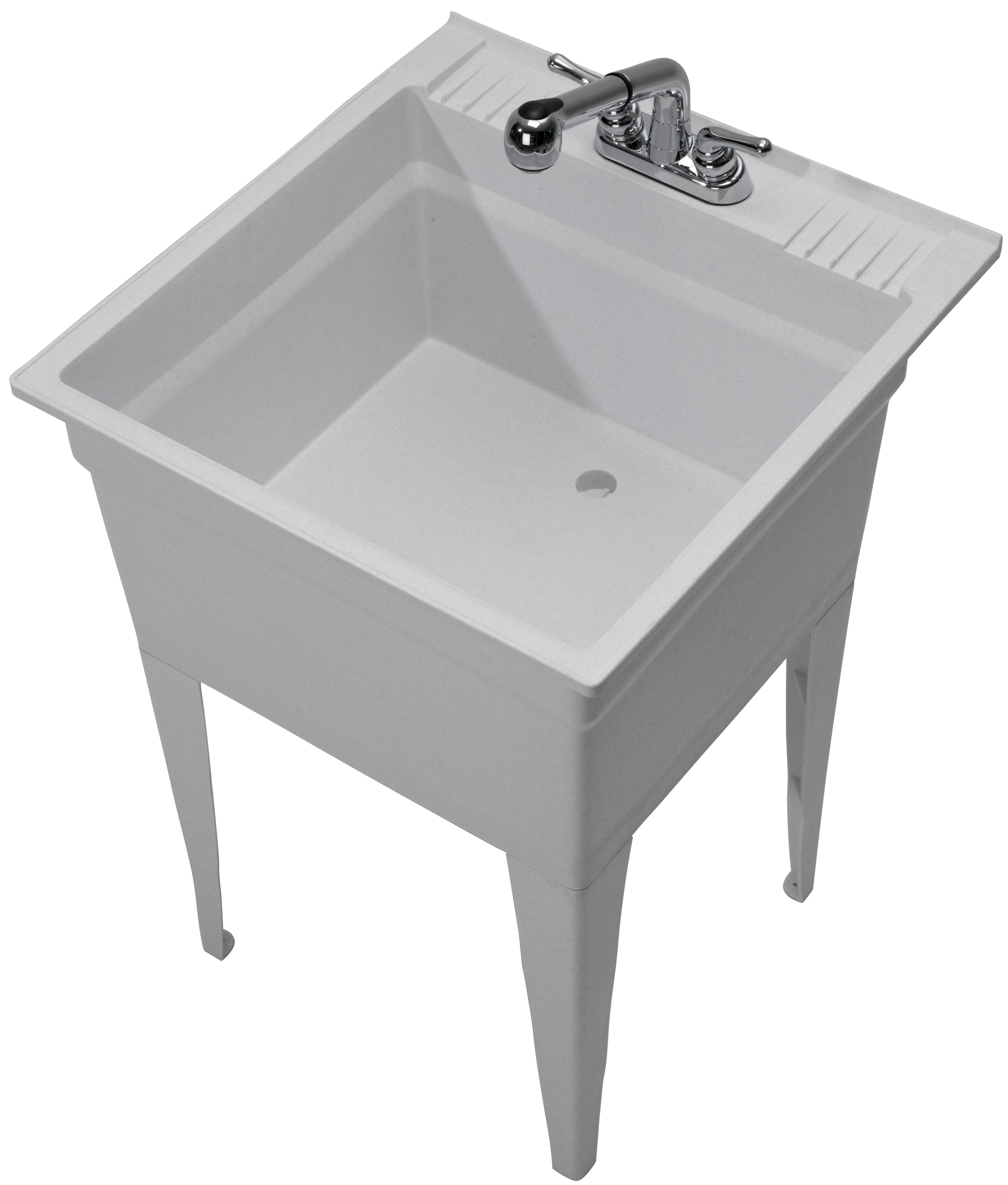 Utility Sink.Heavy Duty 23 75 X 24 75 Freestanding Laundry Sink With Faucet