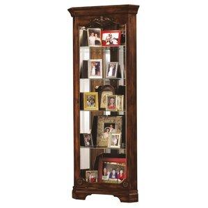 Amazing Constance Lighted Corner Curio Cabinet
