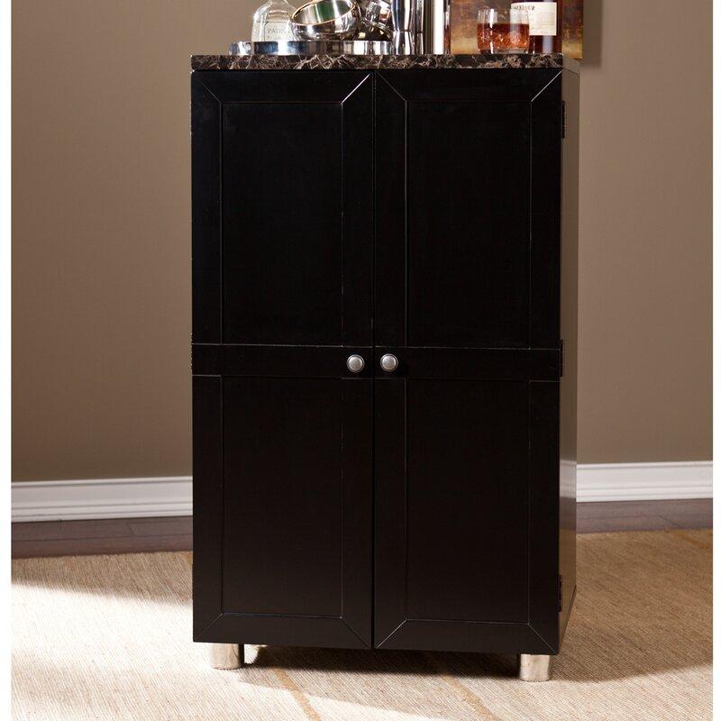 Latitude Run Oldsmar Bar Cabinet with Wine Storage & Reviews | Wayfair