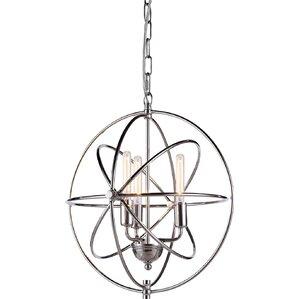 Hamby 3 Light Globe Pendant
