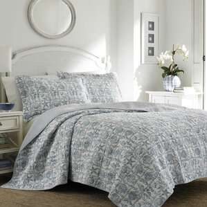 Bettina Beach Reversible Quilt Set By Laura Ashley Home
