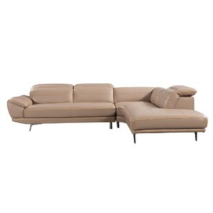 Cana Leather Sectional With Ottoman Tan Leather Sectional R90