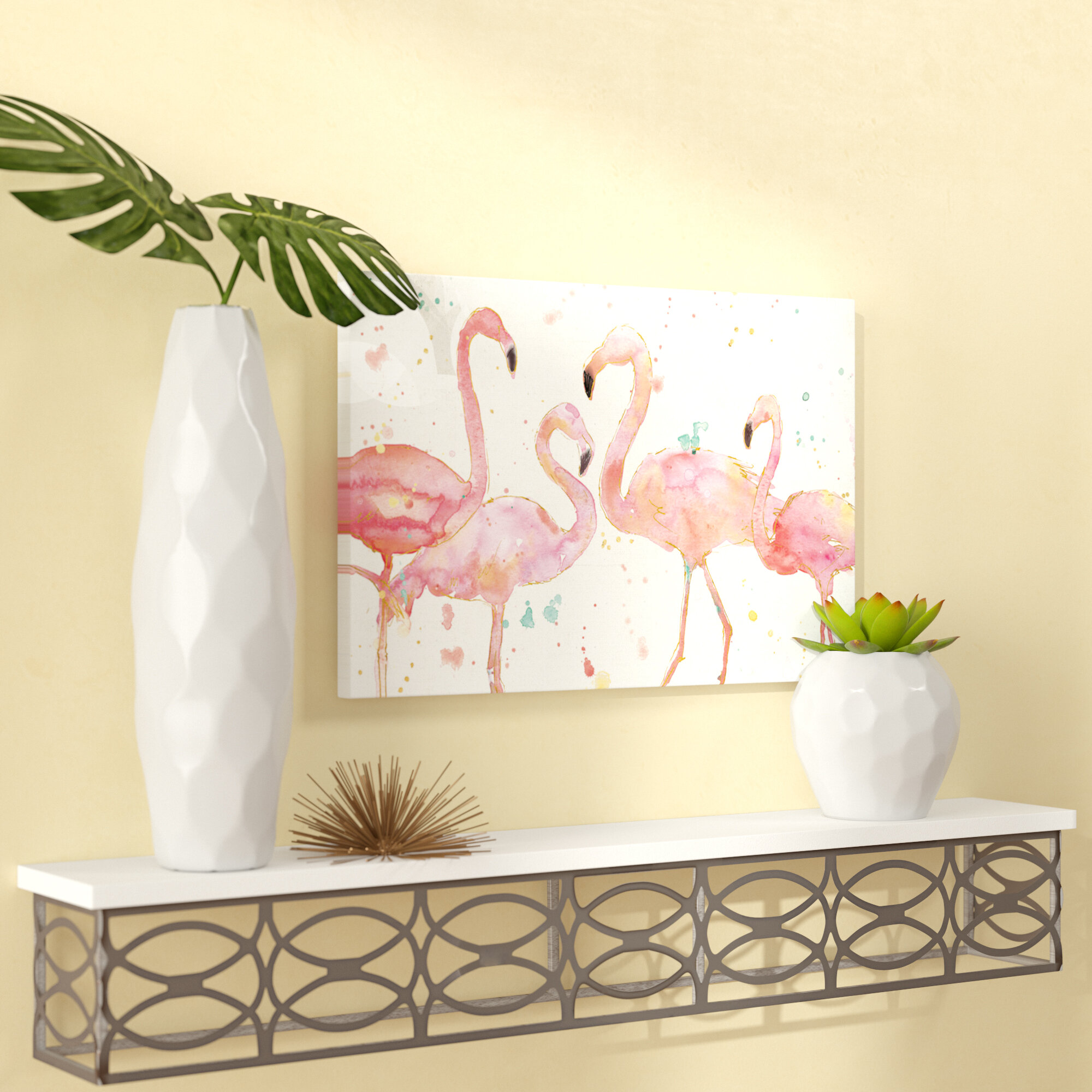 Mercury Row Flamingo Fever I Painting Print On Canvas &