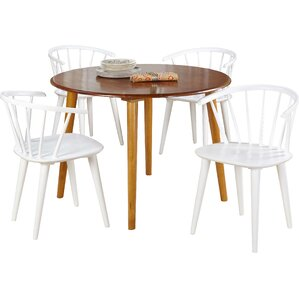 Florence 5 Piece Oak Dining Set by TMS