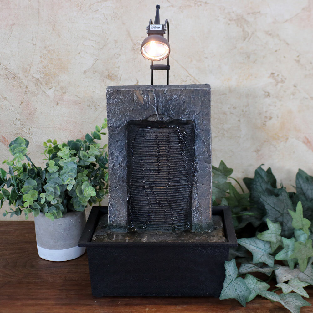 wildon home resin ancient garden wall tabletop water fountain with