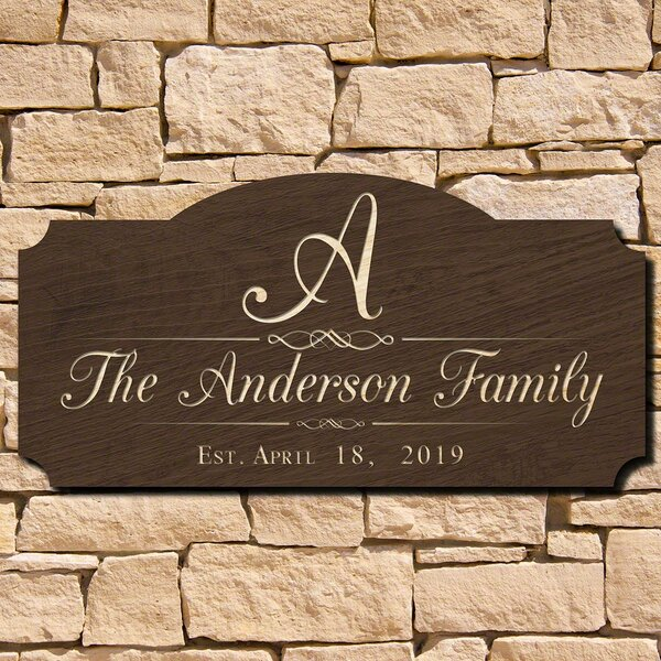 personalized family name signs wayfair