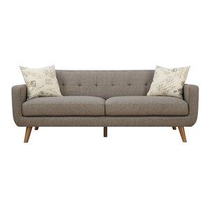 Hoeft Mid Century Modern Sofa & Pillow Set