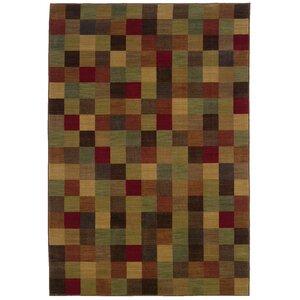 Ryles Brown/Red Area Rug