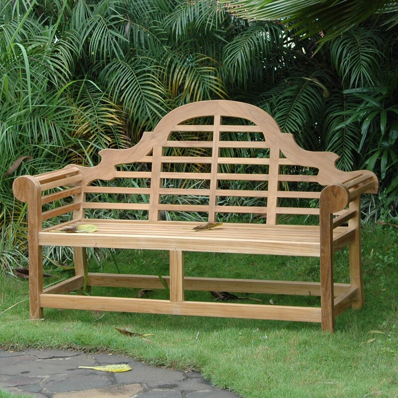Attractive Marlborough Teak Garden Bench