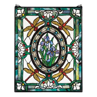 Dragonfly Fl Stained Gl Window