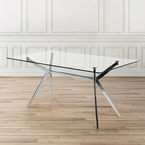 Paris Rectangle Modern Dining Table by Uptown Club