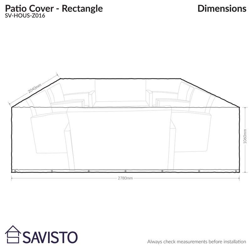 Savisto Schutzbezug für Gartenmöbel & Bewertungen | Wayfair.de