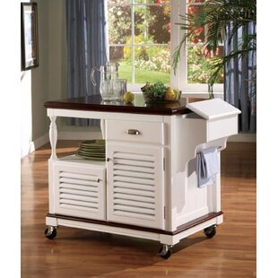 Libby Top Storage Kitchen Cart Granite Top