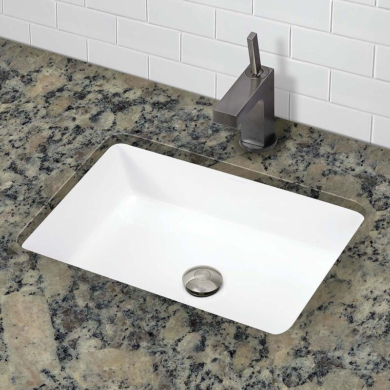 Lilli Classically Redefined Ceramic Rectangular Undermount Bathroom Sink  with Overflow