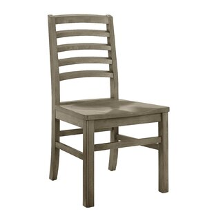 Rader Horizontal Solid Wood Dining Chair (Set of 2)