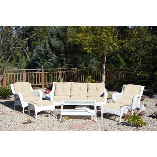 White Wicker Sofa Set Wayfair