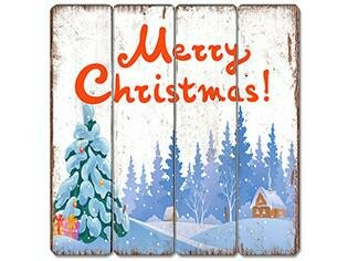 merry xmas wooden sign wall dcor - Merry Christmas Wooden Sign