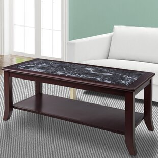 Grey MarbleGraniteTop Coffee Tables Youll Love Wayfair - Grey marble top coffee table