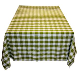 Gingham Polyester Tablecloth