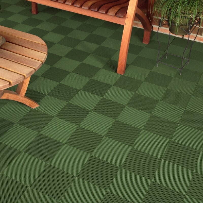 Blocktile 12 Quot X 12 Quot Deck And Patio Flooring Tile In Green