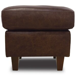 Rachel Leather Ottoman by Luke Leather