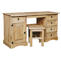 Product Overview. Description. Crafted From Solid Pine, This Dressing Table  Set ...