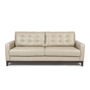 Ordinaire Erdman Taupe Leather Sofa