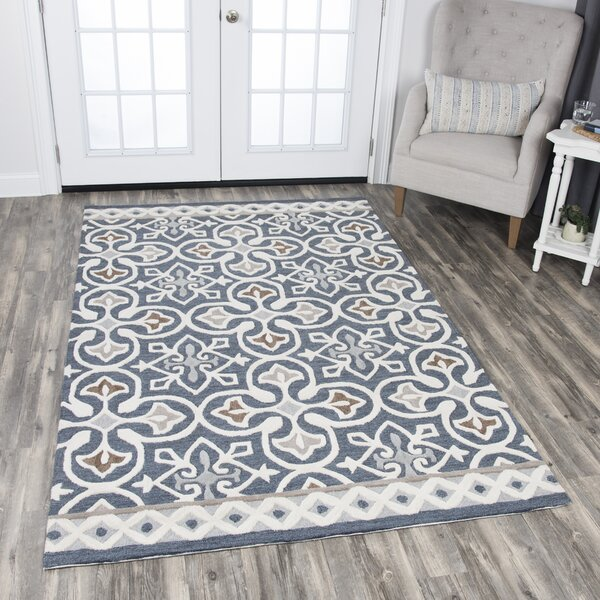 Nordmeyer Hand Tufted Blue Gray Area Rug Amp Reviews Birch