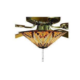 Copperfoil 3 Light Bowl Ceiling Light Fan Kit Only. By Meyda Tiffany