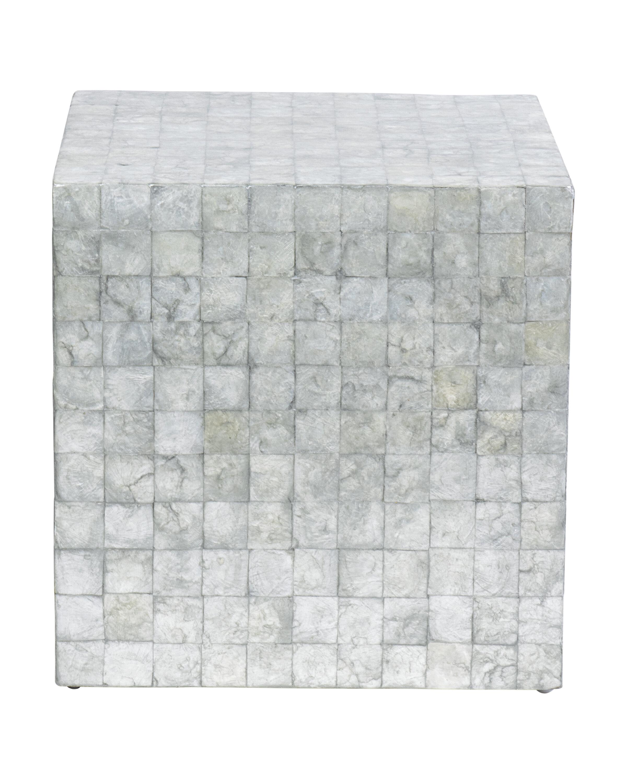 17 Stories Kelton Capiz Cube End Table Wayfair