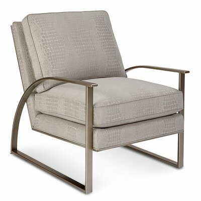 Genial Gracie Oaks Alvina Brass Metal Armchair | Wayfair