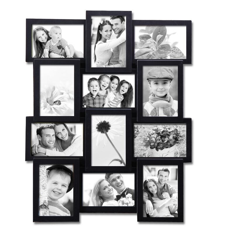 Wrought Studio 12 Opening Plastic Wall Hanging Photo Collage Picture ...
