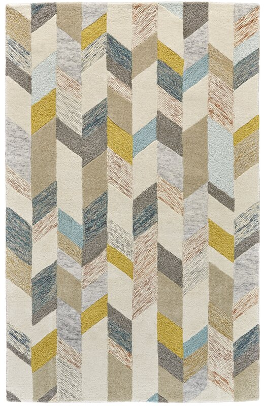 Christine Hand Tufted Gray Gold Area Rug Amp Reviews Joss