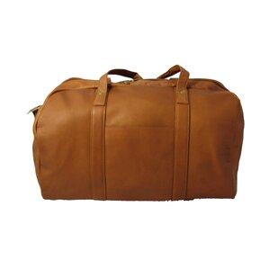 "18"" Leather Travel Duffel"