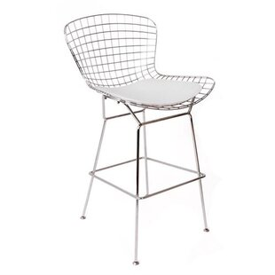 Oppenheimer 26 Bar Stool with Leatherette PU Pad (Set of 4)