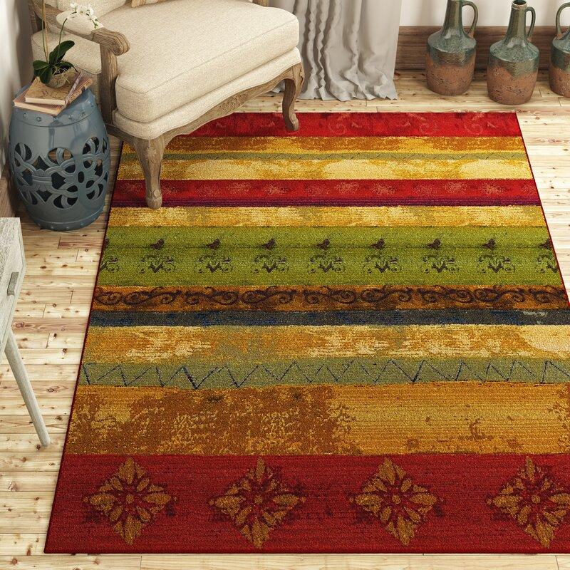 Red Barrel Studio Aroma Redgreen Indooroutdoor Area Rug Reviews