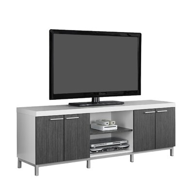 Brayden Studio Topsham TV Stand for TVs up to 60 Color: White/Gray