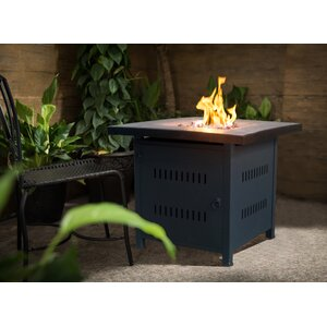 Nicoya Square Steel Propane Gas Fire Pit Table