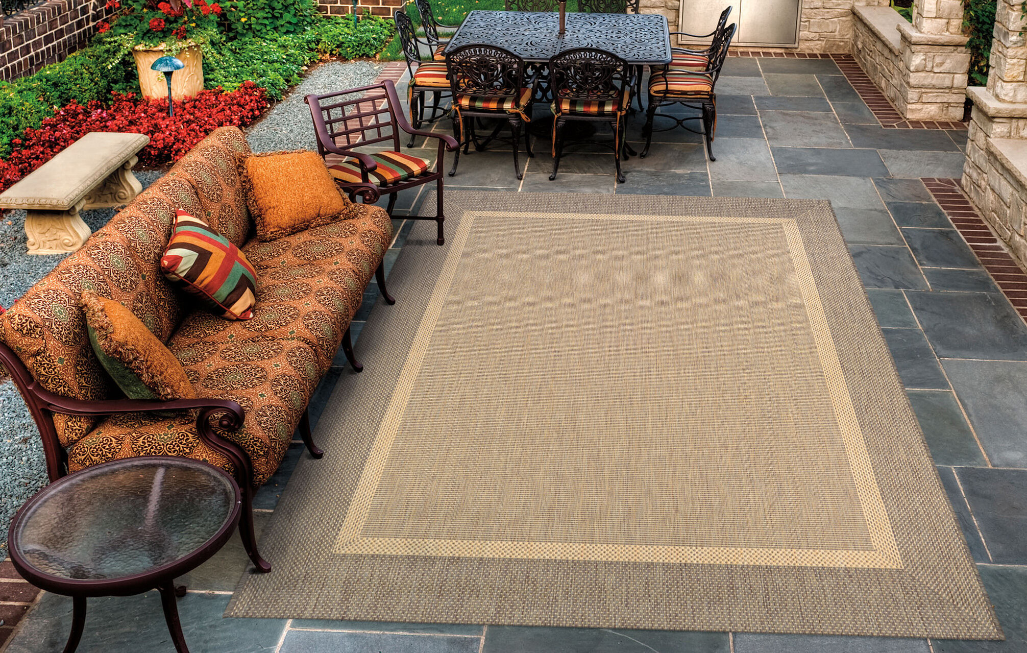 Enjoyable Saffold Texture Beige Brown Area Rug Download Free Architecture Designs Intelgarnamadebymaigaardcom