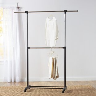 Wayfair Basics 60 73 W Adjustable Garment Rack